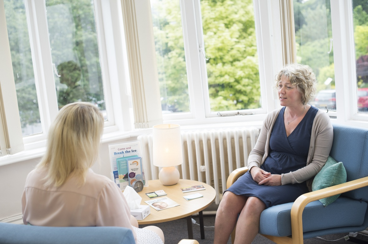 University counsellor counselling a member of staff