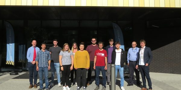 Electro-mechanical Engineer Degree Apprentices outside of the Advanced Manufacturing Building