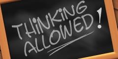 Thinking Aloud Written on Blackboard