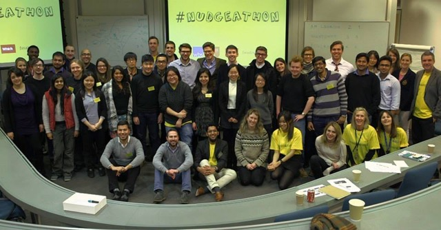 Photo of competitors at the first Nudgeathon