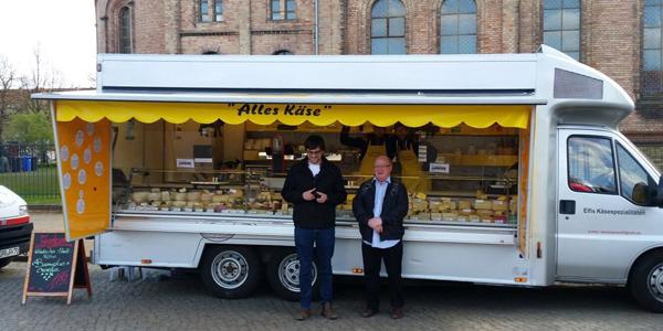 Gordon Brown and Lukasz Walasek in Berlin