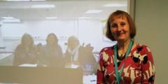 Fern Todhunter, Nic Batholomew, Gerri Nevin and Debbie Pittaway catching up on progress during a Skype conference
