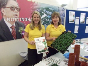 Nottingham in Bloom promoting their Student Garden Competition