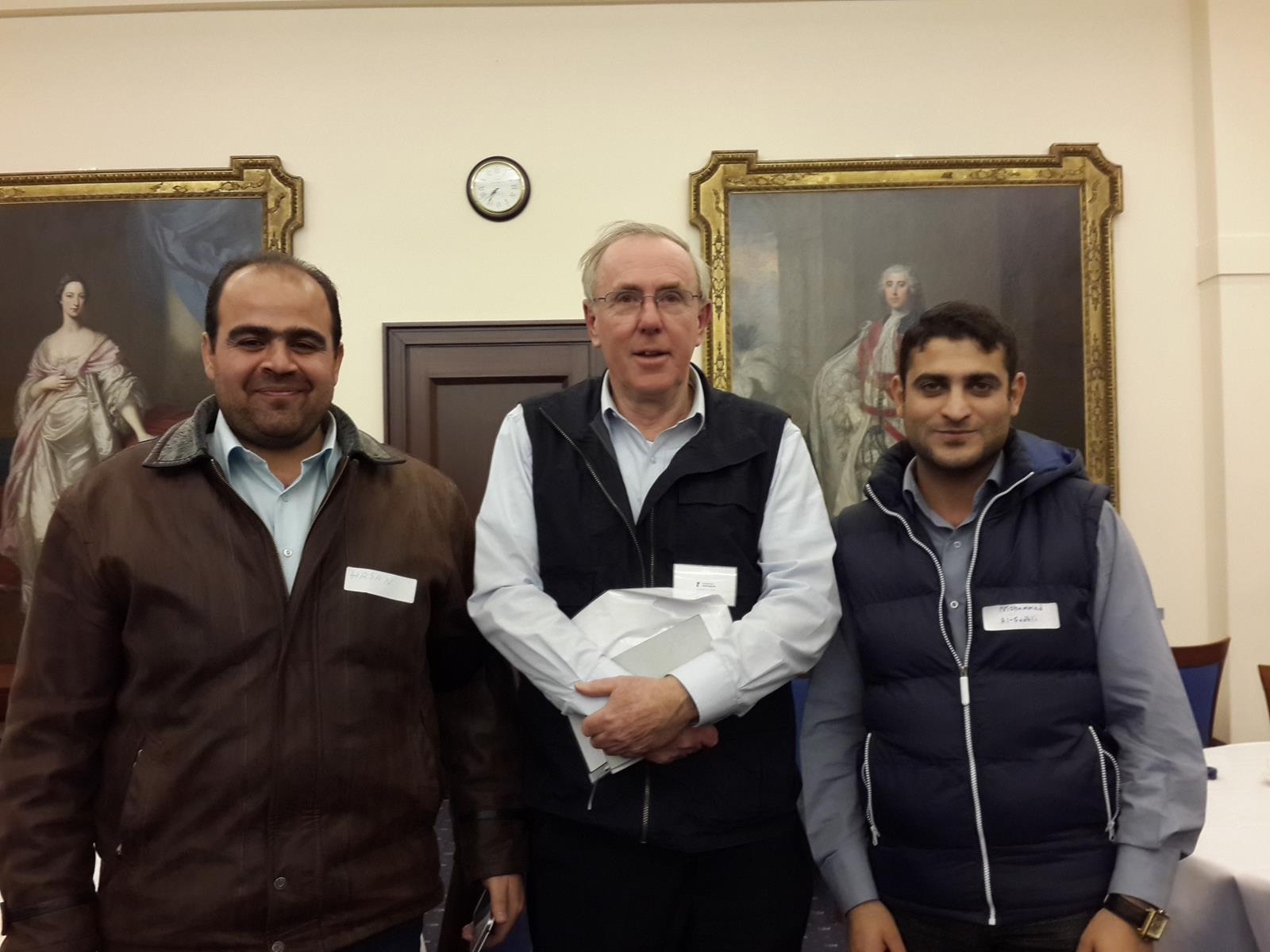 David with Hasan and Mohammed at this year's launch event