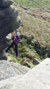 Abseiling in the Peak District