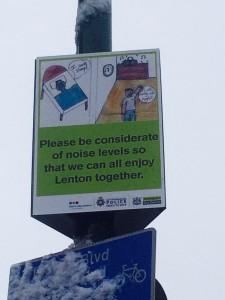 noise sign Lenton