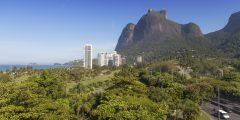 Golf Club (foreground) and Pedra da Gavea (top right)