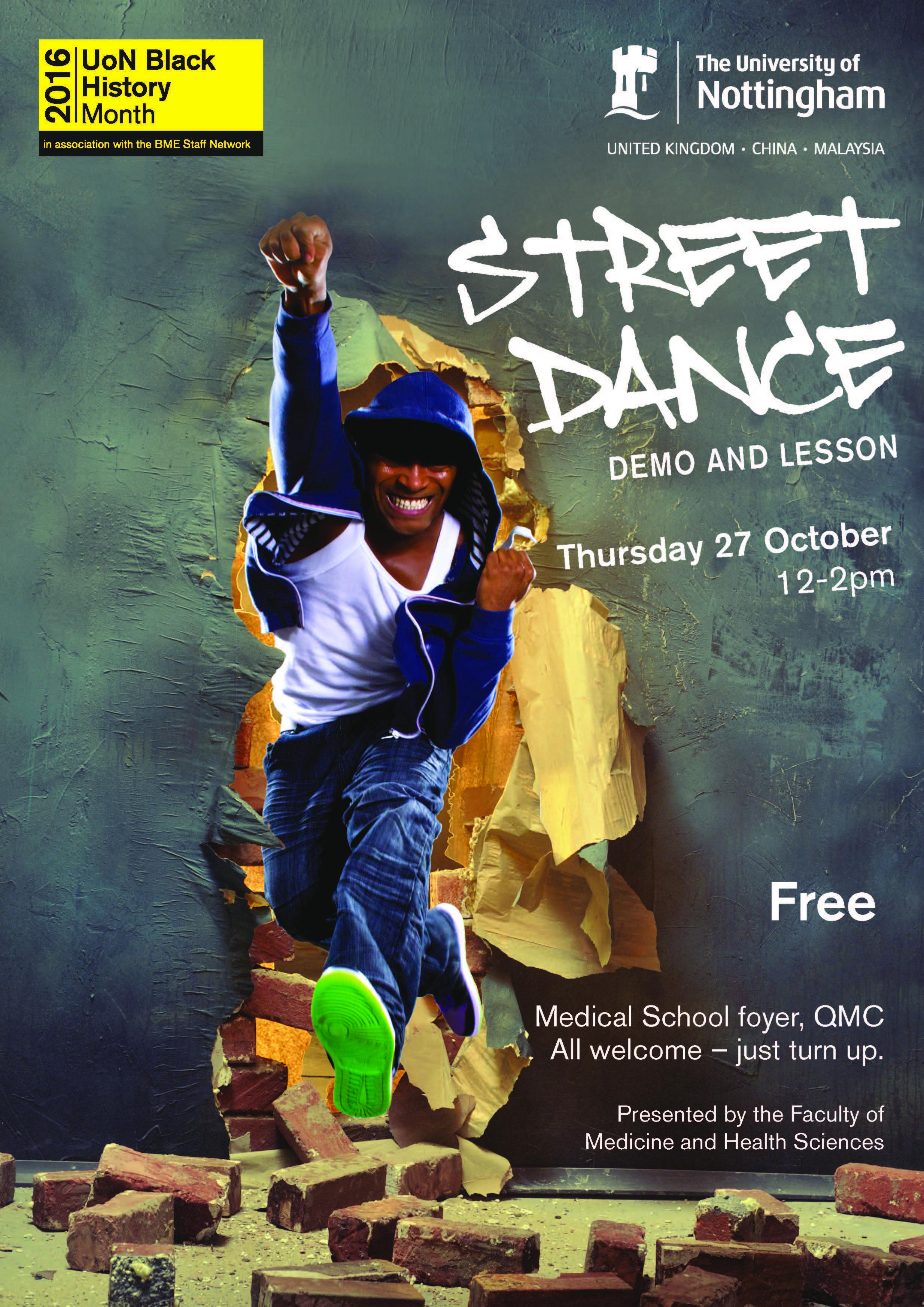 Poster design nottingham - Street Dance Poster