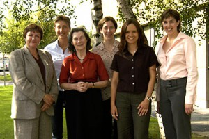 Meeting Anne McLaren (middle front) in 2004 was a real privilege