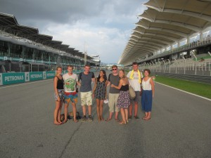 The Malaysia Grand Prix finish line