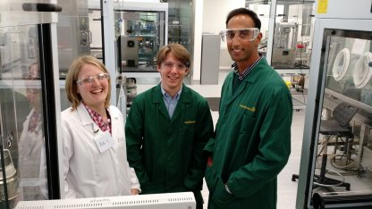 Dr Zoe Cotter, Dr Andrew Megarry and Dr Arpan Desai now working as Senior scientists for AstraZeneca in Macclesfield