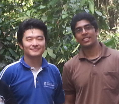 Kuan-Hon and Vijay in the rain forest