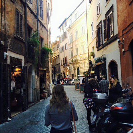 Exploring the winding steets of Rome