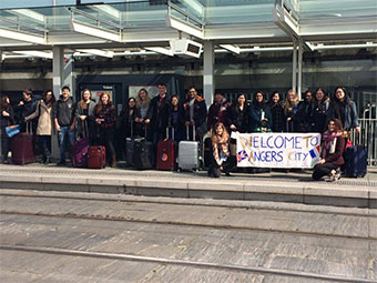 The welcome in Angers