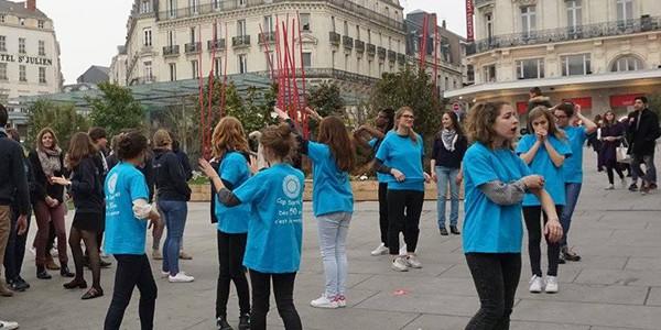 Mars Bleu Flash mob