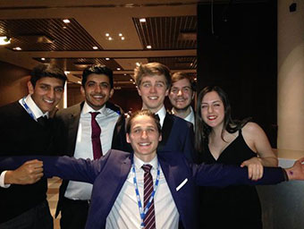 The British contingent on our final night!