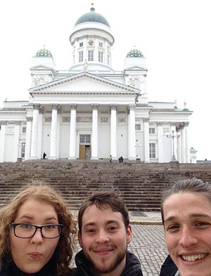 'Czech' out the 'German' and the 'Brit' exploring Helsinki's cathedral!
