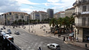 Place de la liberté, the central square in Toulon