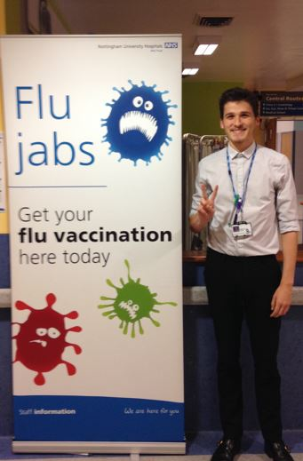 Get your flu vaccination here today