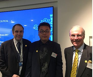 Xianle Chen with Martin Astbury and Nicholas Wood