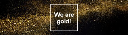 We are gold!