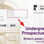 Undergraduate UK prospectus screenshot