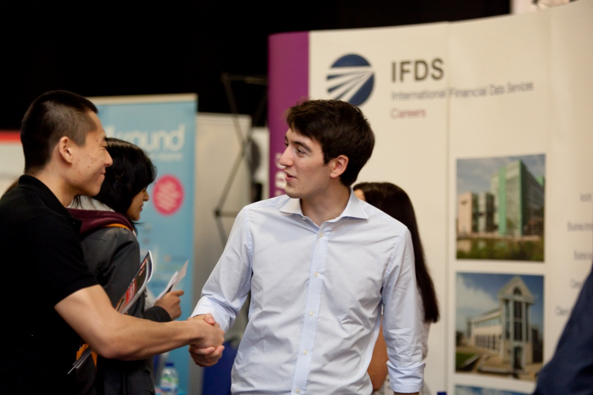 Student at the Careers Fair