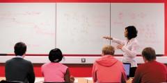 Undergraduate students attending a maths lecture, Mathematical Sciences Building, University Park