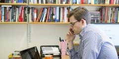 Dr Matthew Goodwin Associate Professor of Politics and International Relations Taking a Phone Call