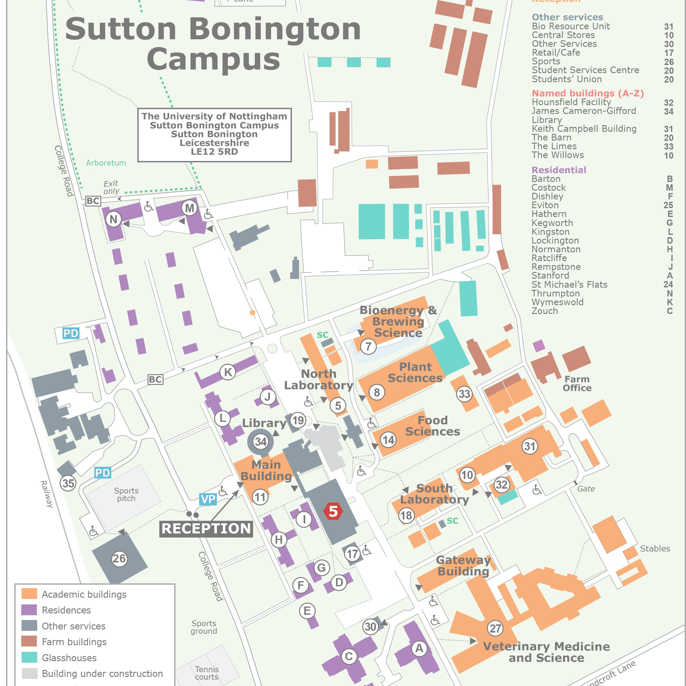 Sutton Bonington Campus Map Sutton Bonington Map   Project Transform