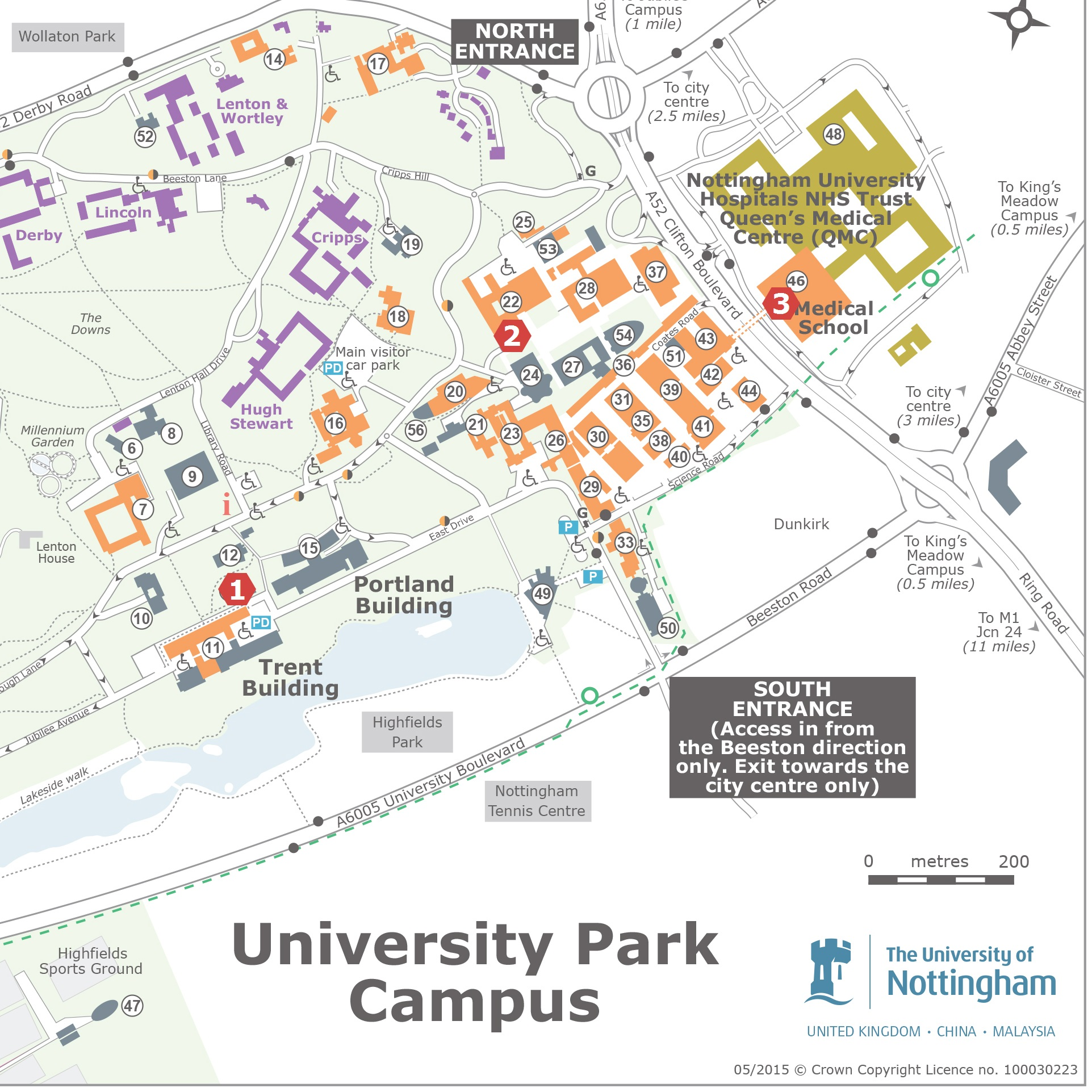 University Of Nottingham Map University Park Map   Project Transform
