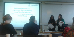 Image: presenting paper at Emotional Methodologies conference, University of Leicester, 19th May 2015