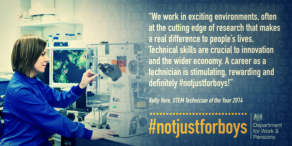Kelly Vere featured in the #notjusttoboys campaign.
