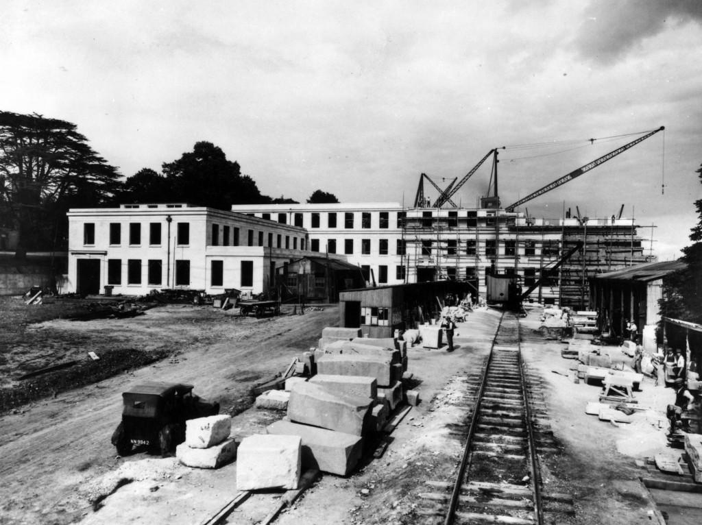 University College (Trent Building) under construction, 1928