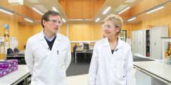Research Fellow Dr Graham Newton and Professor Dame Jessica Corner