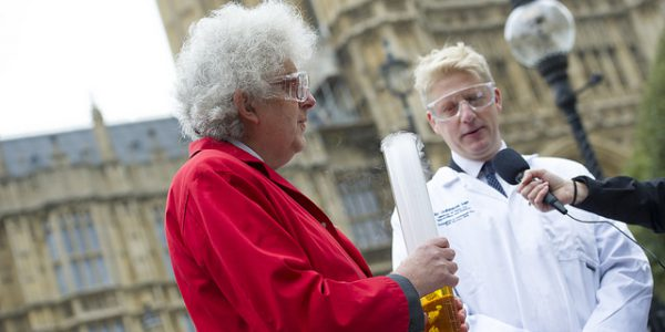 Professor Sir Martyn Poliakoff and Minister for Universities and Science, Jo Johnson MP at Nottingham in Parliament Day