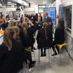Professor Herve Morvan promoting STEM activities with schoolchildren