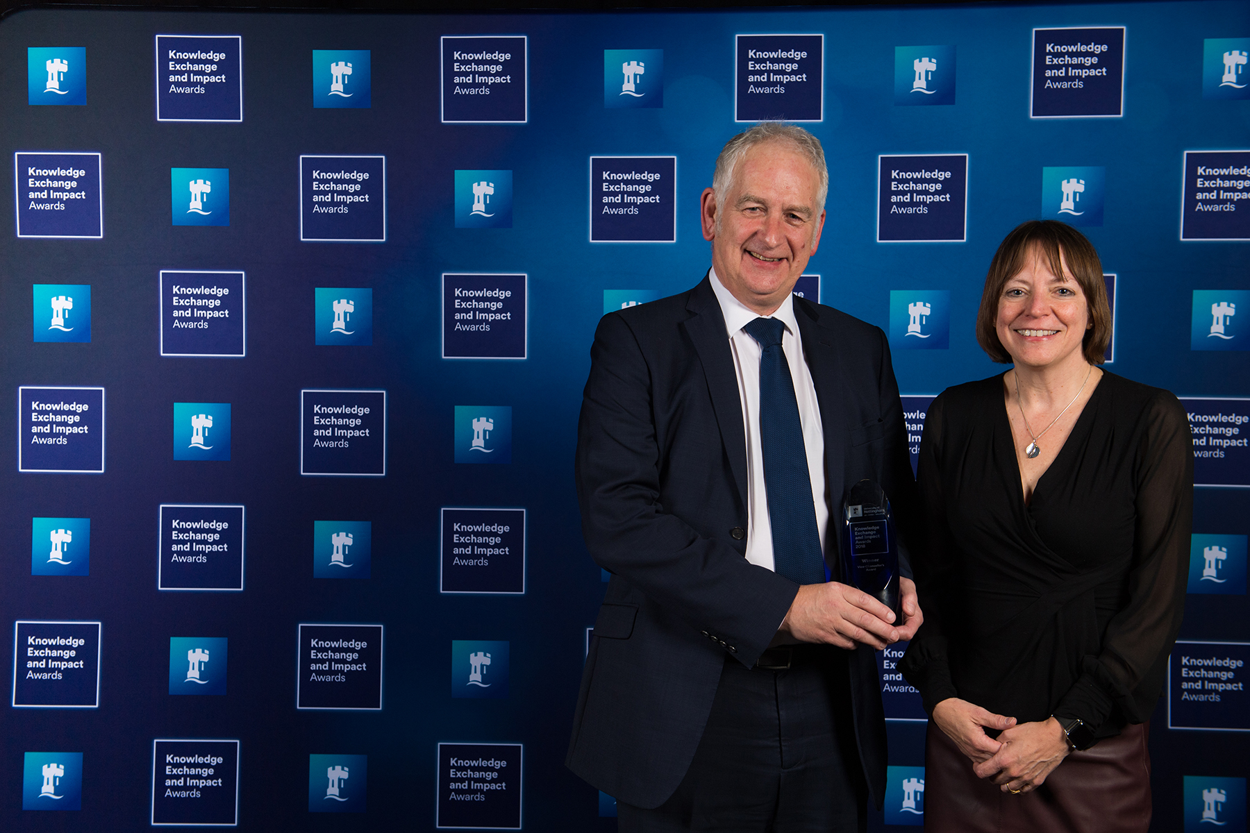 Barrie Hayes-Gill and Vice-Chancellor Shearer West