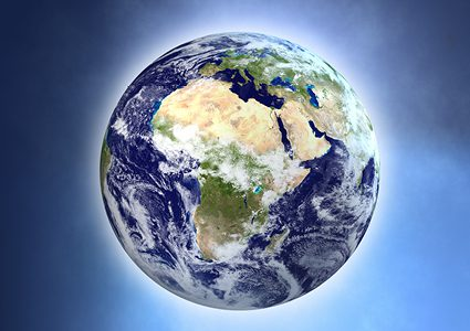 Satellite image of the Global South
