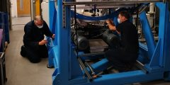G2GRC technicians at work on machinery