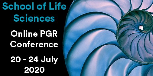 school of life sciences PGR conference poster