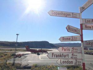 Kangerlussuaq airport in Greenland