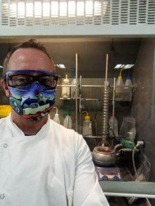 Lee Hibbett with waterless condenser