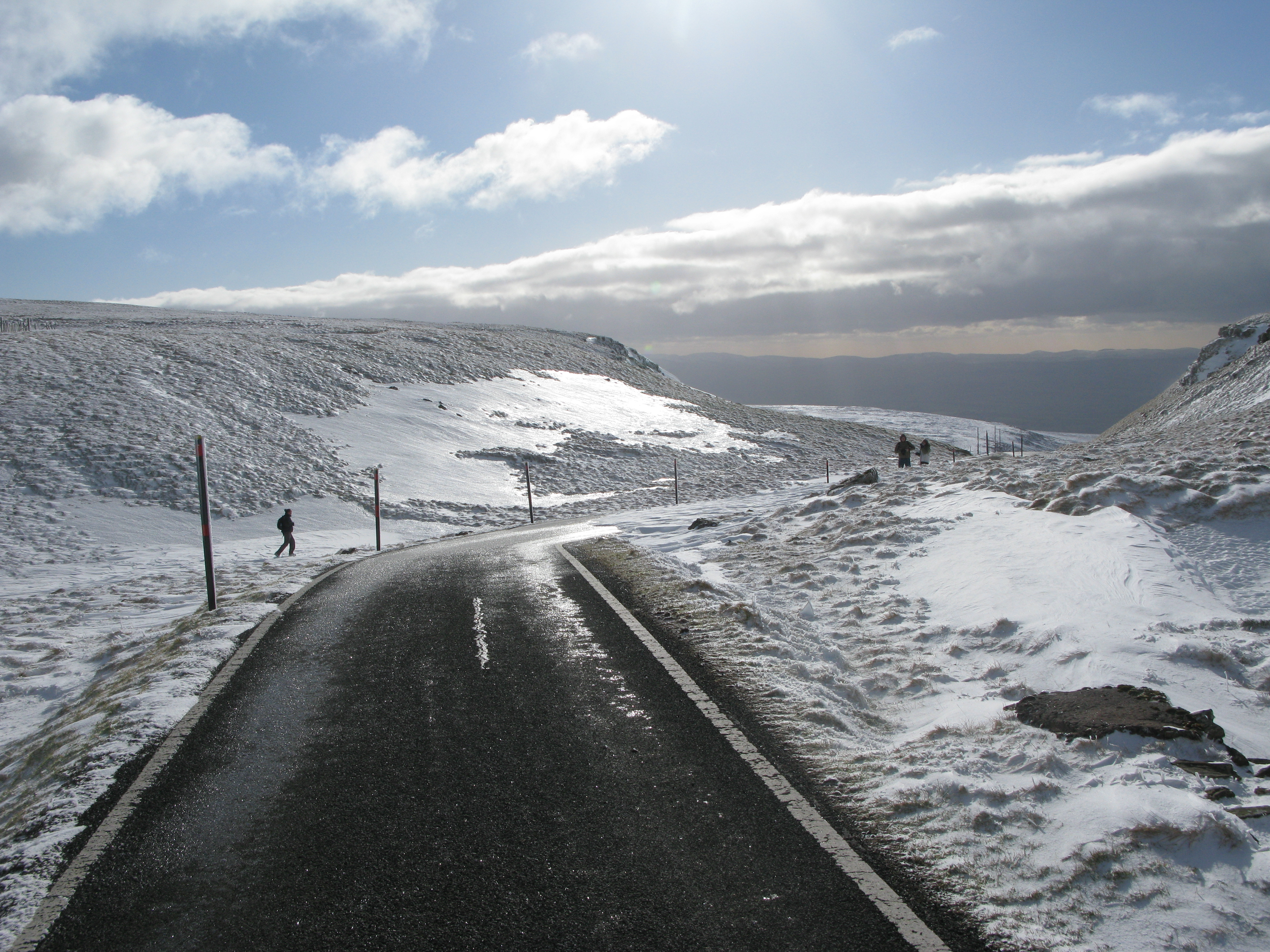 Close to the summit of Great Dun Fell, February 2013