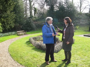 Recording the Discovering Britain walk with John Kettley