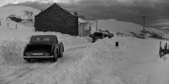 Car on the Kirkstone Pass by the Kirkstone Inn, late 1940s.   By Joseph Hardman