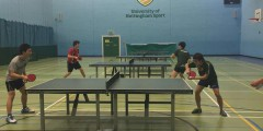 Men's Table Tennis in action at Jubilee Sports Centre