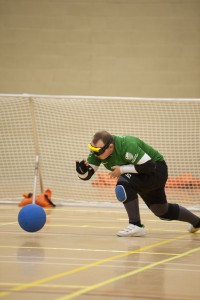 Liam playing goalball