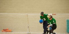 Goalball action shot