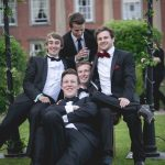 Tim and his friends at the University of Nottingham Graduation Ball